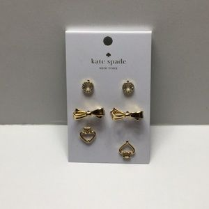 Kate Spade Set of Three Stud Earrings